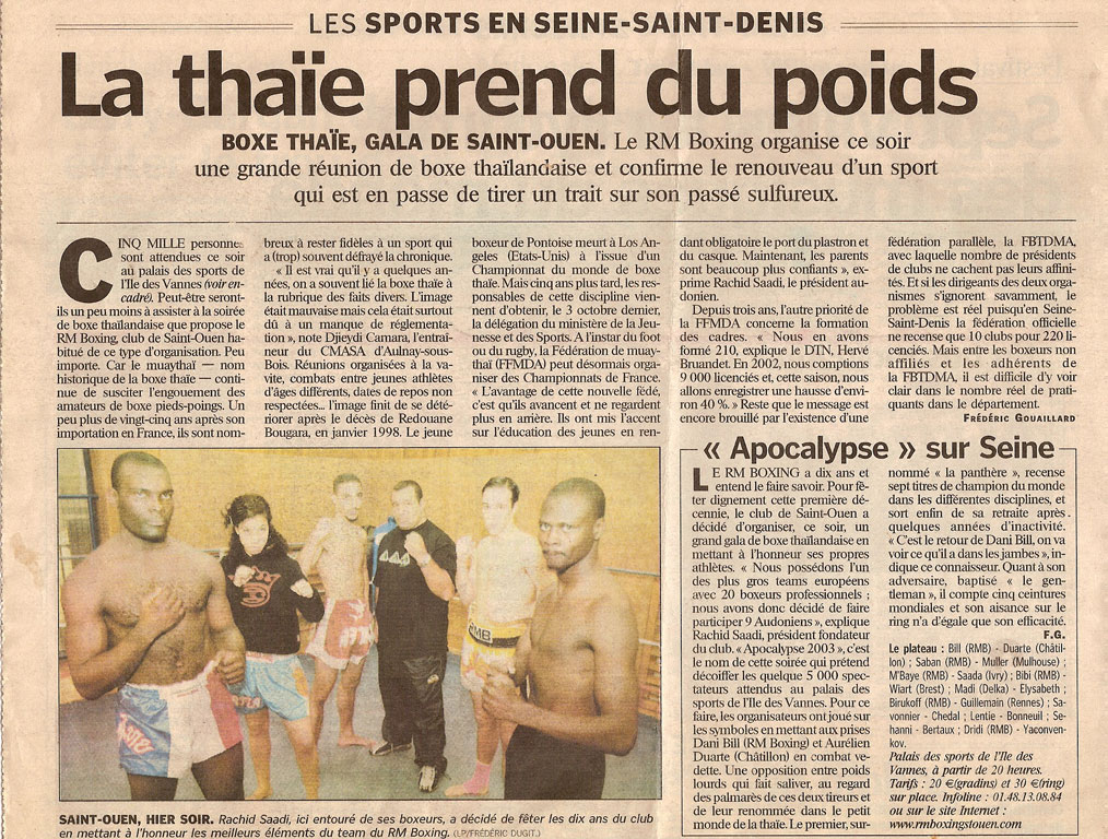 Parisien muay thai rmboxing
