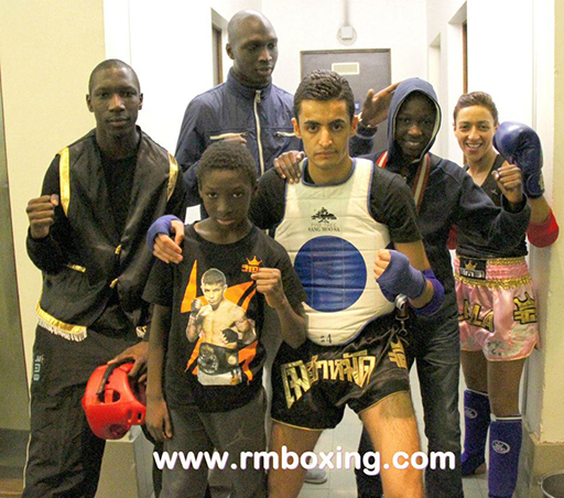 sekou, moussa, demba, bacary dembele, lailla akounad et mohamed amziane du rmboxing gala a asnieres