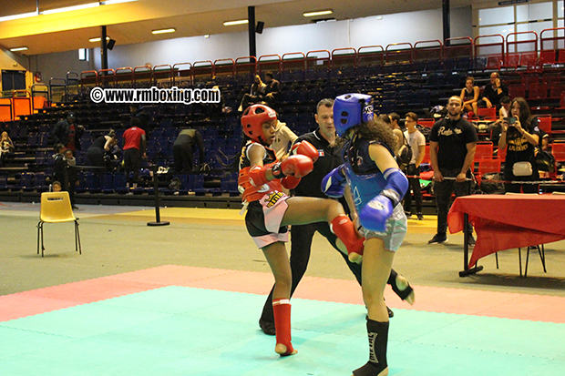 grace vessat  rmboxing  championne de la coupe de france FFKMDA muay thai